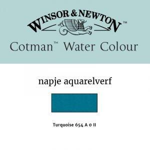 Turquoise Cotman Aquarelverf